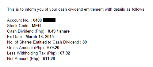 dividends from stocks