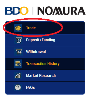 how to create bdo online account