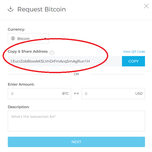 send bitcoin to blockchain