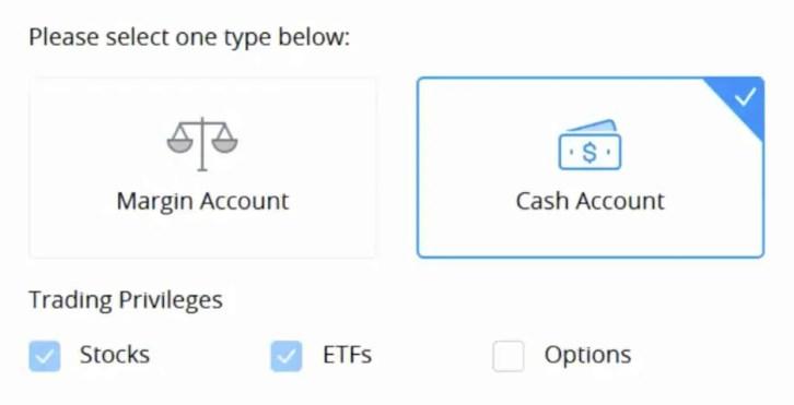 webull margin account vs cash account
