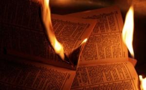 Burning book in Nuoro