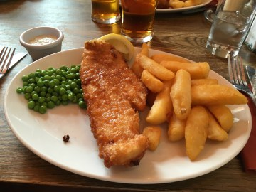 glorious fish and chips in Exeter
