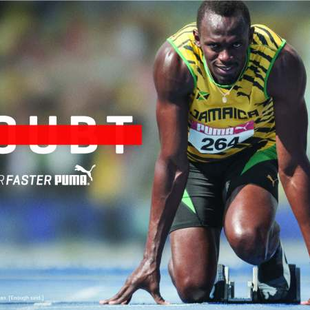 Usain Bolt Doubt forever faster puma ads