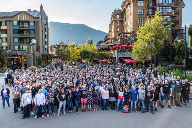 Automattic photo 2016 Whistler, group photos