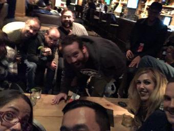 Automatticians having drinks - Automattic GM Whistler 2016
