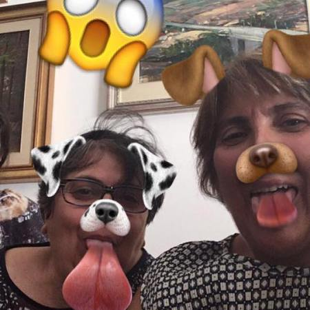 my mother with her sister, mother snapchat
