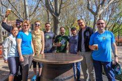 Team photo at Lago de la Casa de Campo