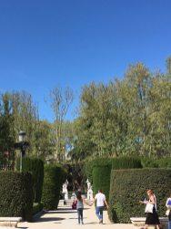 Palacio Real front entry Palacio Real garden