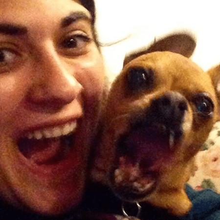 sister and dog