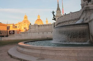 One of the Altare della Patria's fountains with Fori di Traiano snap in the background. Rome <3
