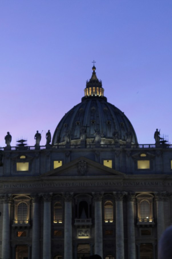 "St Peter's big and magnificent dome in Vatican City. In Rome they call it 'Er Cupolone"" (The Big Dome)"