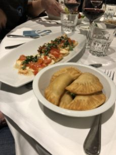 Jeremy's amazing meal at Le Phenicia restaurant - Antibes Water meetup 22-28.02.2018