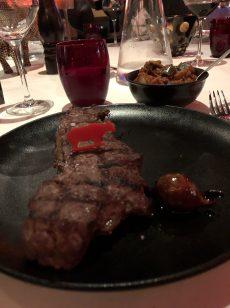 My 300gr sirloin steak at Golden Beef Steak House - Antibes Water meetup 22-28.02.2018