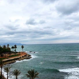 The view from the hotel suite where we worked for one week - Antibes Water meetup 22-28.02.2018