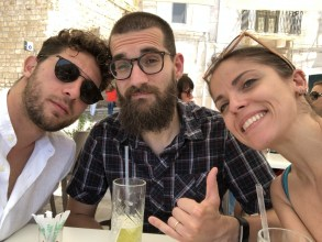 Antonio, Franz and I in Giovinazzo