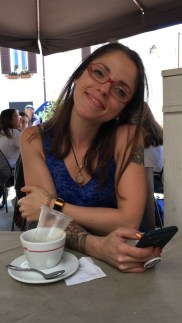 Me happy because I'm in Polignano a Mare