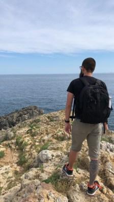 Franz at Punta Ristola - finis terrae