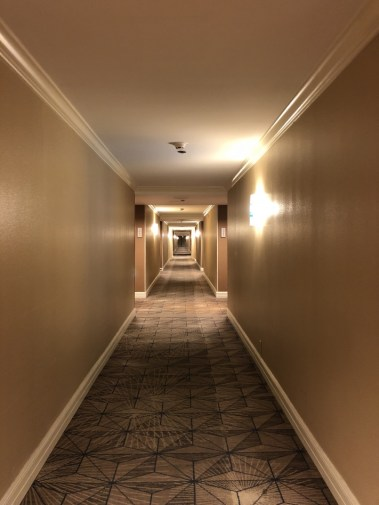 Creepy halls on the penthouse at the Hilton