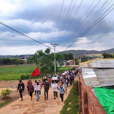 Kyaukme anti-coup protesters