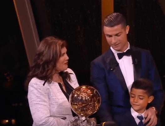 Ronaldo Ballon dOr Dec2017 - Cristiano Ronaldo wins fifth Ballon d'Or to equal Lionel Messi's record