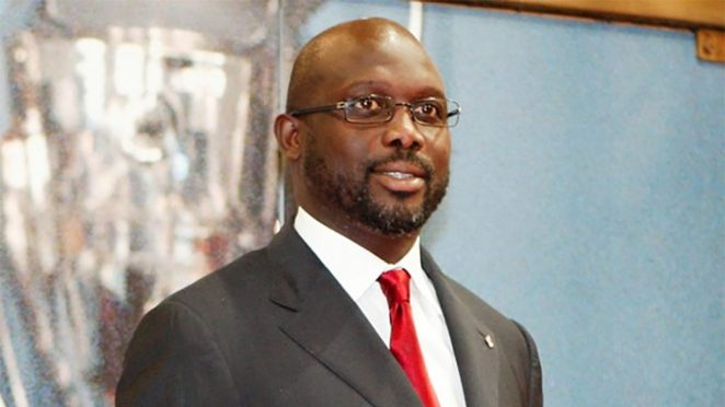 Image result for President George Weah