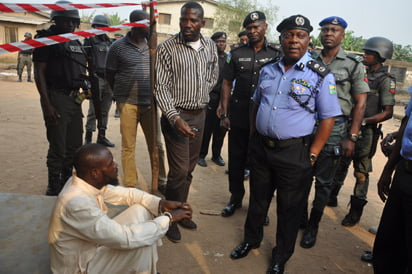 Image result for Alfa arrested with heart, private parts in Lagos