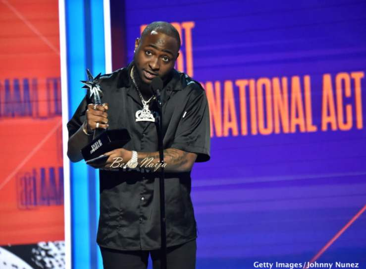 Image result for Davido BET bet 2019: see how davido and wizkid reacted to burnaboy's big award win BET 2019: SEE HOW DAVIDO AND WIZKID REACTED TO BURNABOY'S BIG AWARD WIN Davido