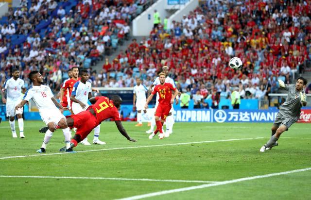 Image result for lukaku scoring against panama