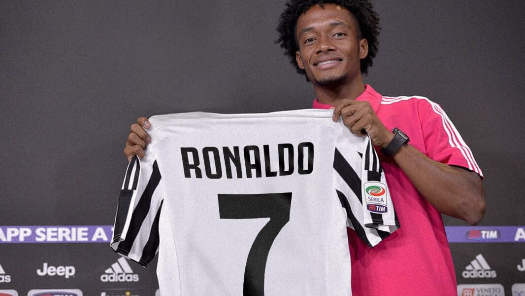 Image result for Cuadrado has given up his Juventus Number 7 jersey for new arrival Cristiano Ronaldo