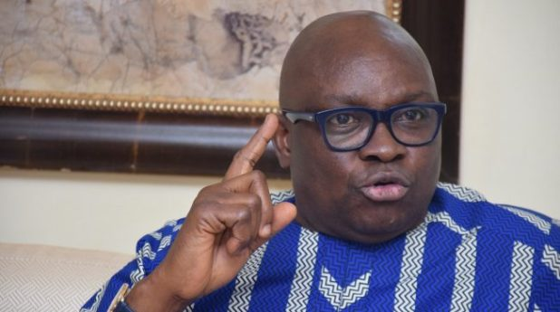 ayo fayose - MKO Abiola: Fayose reacts to Buhari's renaming of Abuja stadium, mocks Obasanjo