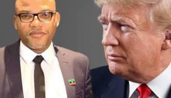 Nnamdi Kanu to write Donald Trump over US Ambassador's role in sending 'fake' Buhari to White House