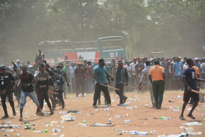Image result for violent in lagos, rivers elections
