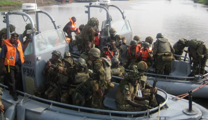 Just In : Navy arrests nine suspects with 92 drums of adulterated petrol in Ondo