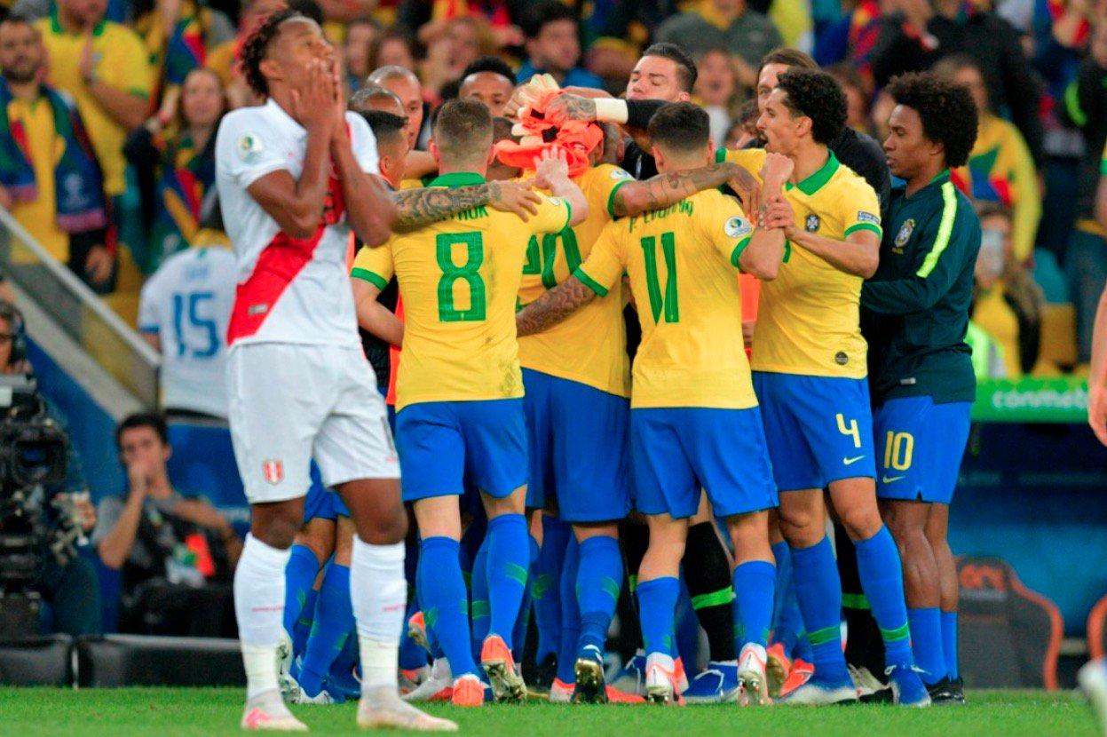 Brazil Peru July2019 - 10-man Brazil defeat Peru to win 2019 Copa America
