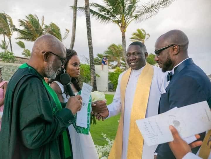 9AB7CDBC 0CA1 44F8 A804 86931D5618C0 - PDP carpets Akeredolu over daughter's wedding in Mauritius