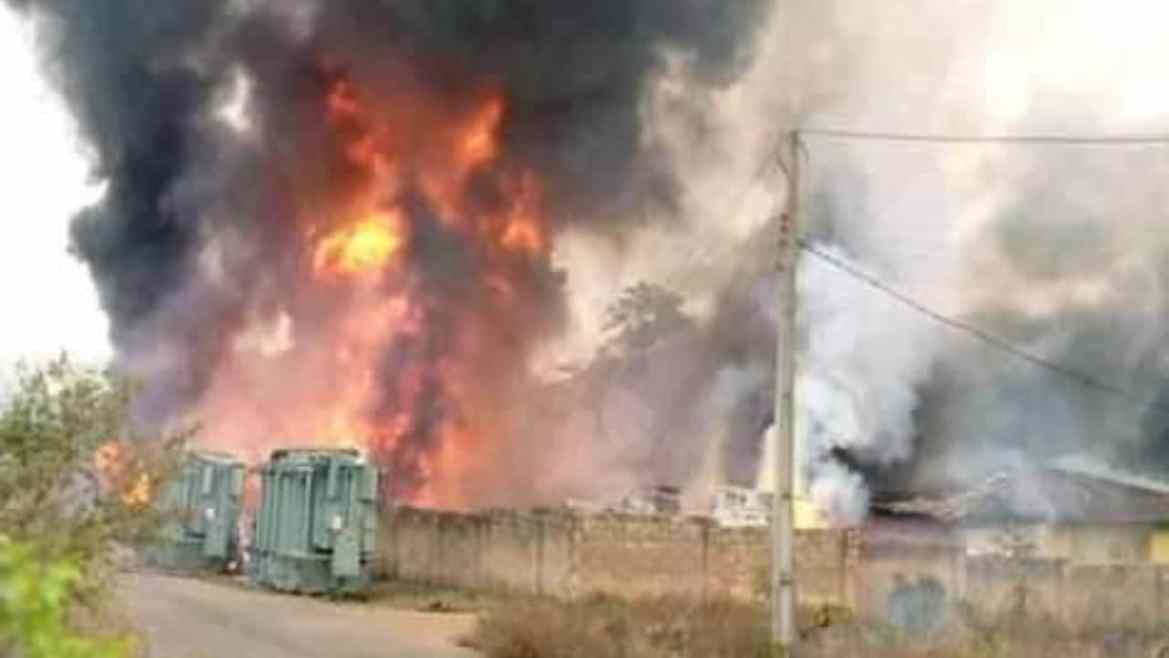 Image result for pics of oke agbe fire incident