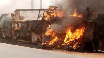End SARS: One killed, protesters set diesel tanker ablaze, loot shops in Delta