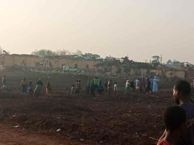 Explosion rocks Ondo, hundreds of buildings destroyed