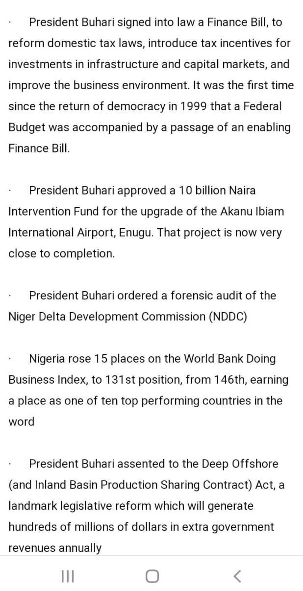 DCE214D6 DB95 403D 87EA 33B4A7618AD8 - Buhari lists CAMA, 774,00zero jobs, NYSC allowance, others as second-term achievements [Full list]