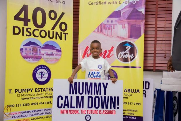 IMG 20200903 WA0002 1024x683 - Quadruplex: T Pumpy announces children's estate in Abuja as plot of land with C-of-O goes for N399k