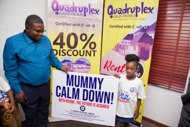 IMG 20200903 WA0038 1024x683 - Quadruplex: T Pumpy announces children's estate in Abuja as plot of land with C-of-O goes for N399k