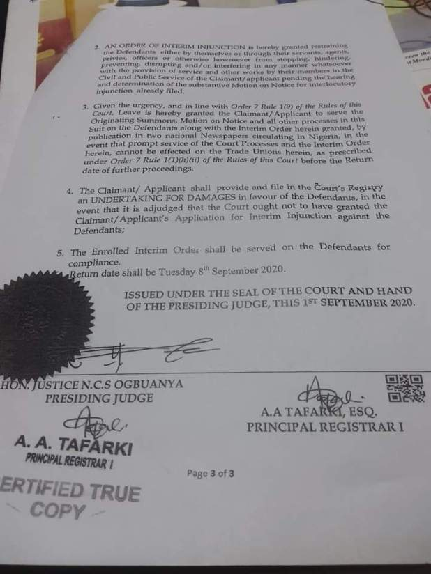 IMG 20200904 WA0027 - Rivers government obtains court order to stop NLC, TUC protest