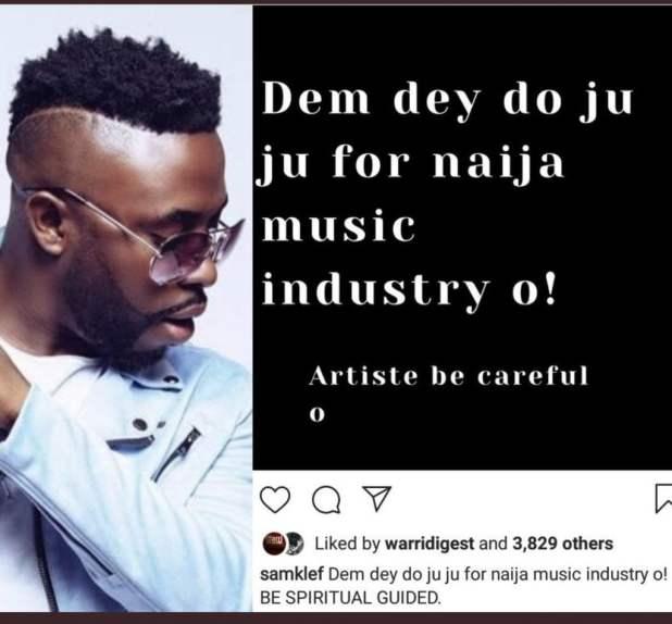 IMG 4122 1024x950 - Singer Samklef warns of fetish people in Nigerian music Industry