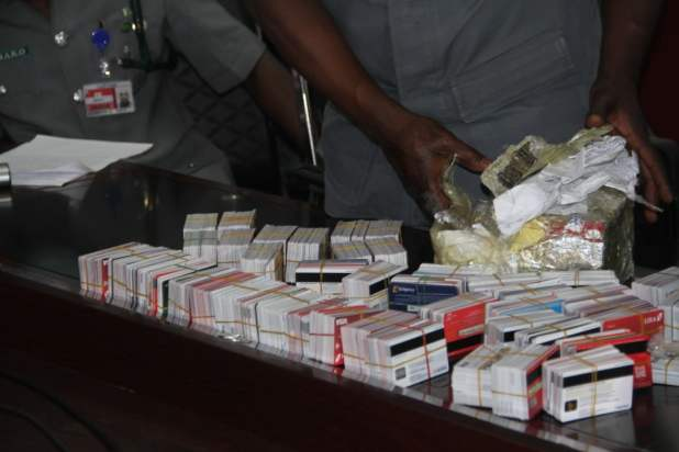 customs4 - Customs, EFCC nab Dubai passenger with 2,890 ATM, SIM cards inside noodles