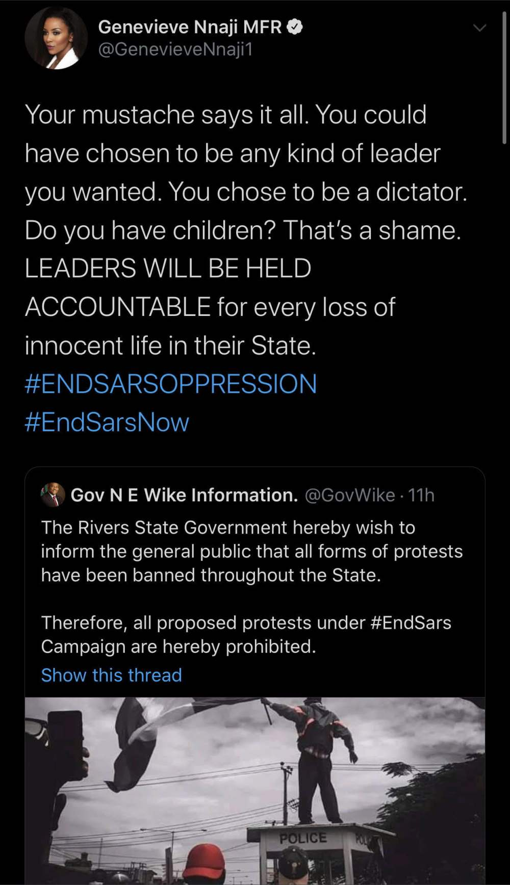 unnamed 22 - End SARS : It's a shame you chose to be a dictator - Genevieve Nnaji blasts Wike