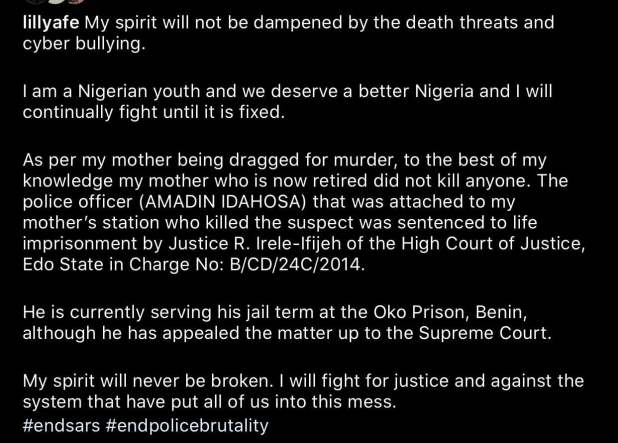 unnamed 4 2 - End SARS: My mother did not kill anyone - Lillian Afegbai