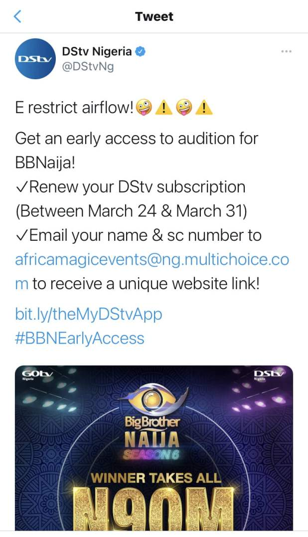 IMG 9803 - BBNaija: Organisers announce 2021 season six audition, N90m grand prize