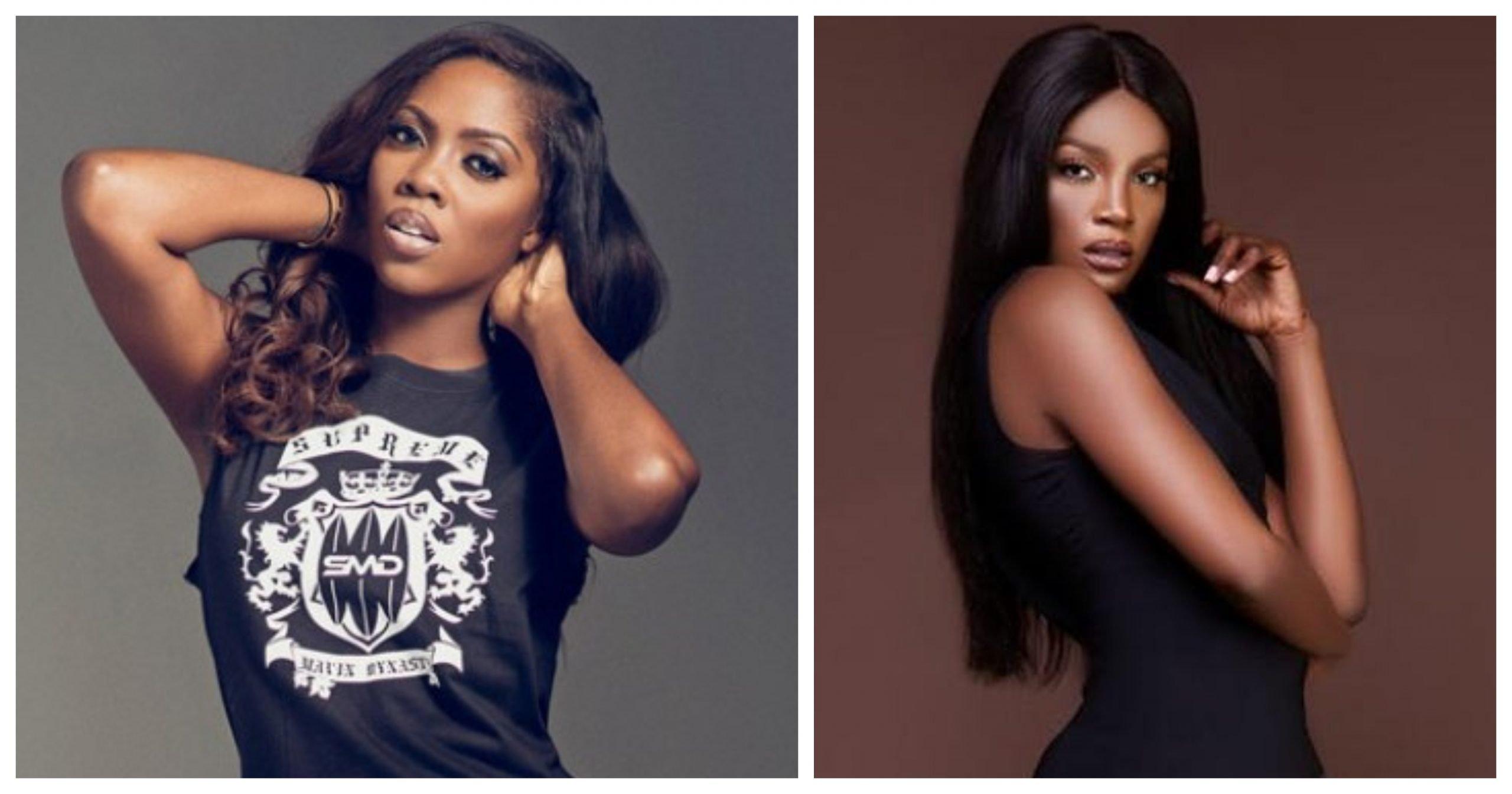 Tiwa Savage, Seyi Shay fight dirty inside Lagos salon [VIDEO]