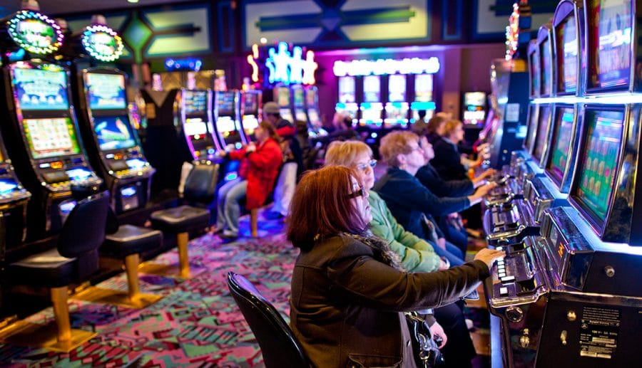 patrons in casino trap