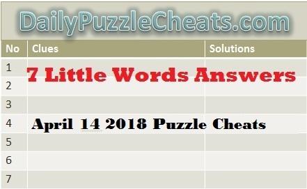 Seven Little Words april 14 2018. Daily Puzzle cheats
